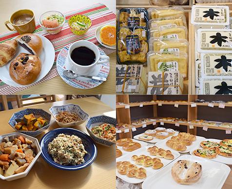 惣菜、パン、豆腐製品
