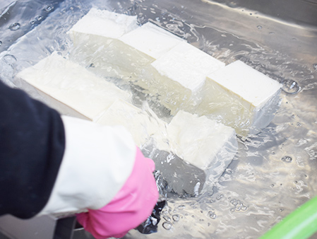地元産大豆で作る豆腐製品