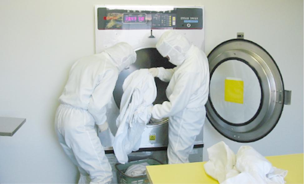 防塵服(クリーンウェア)のクリーニングを専門